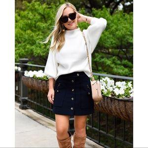 Veronica Beard Monroe Navy Mini Skirt